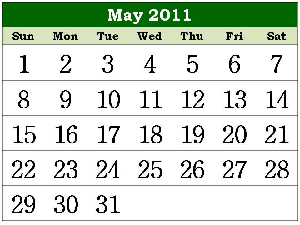 calendar 2011 printable. house 2011 Calendar Printable